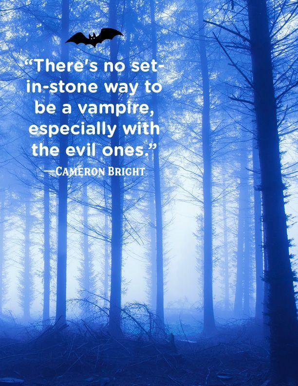 """<p>""""There's no set in-stone way to be a vampire, especially with the evil ones.""""</p>"""