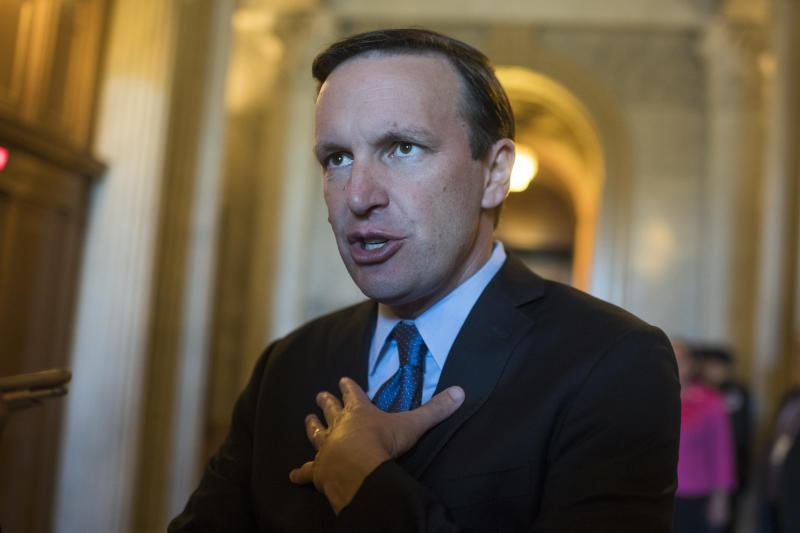 """Mass shootings are """"uniquely and tragically American,"""" the Connecticut senator said. (Tom Williams via Getty Images)"""