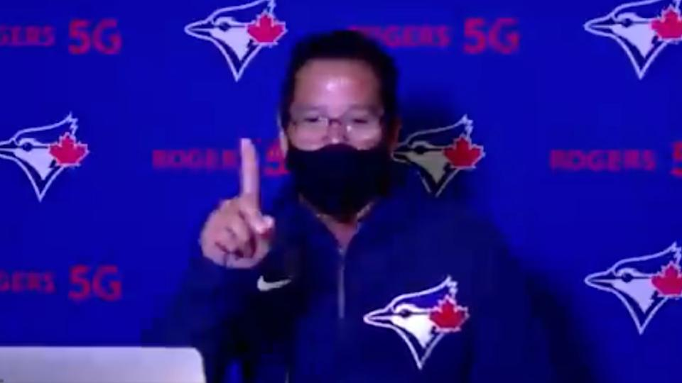 Blue Jays manager Charlie Montoyo interrupted his call with the media to make sure he didn't miss his son's high school graduation.