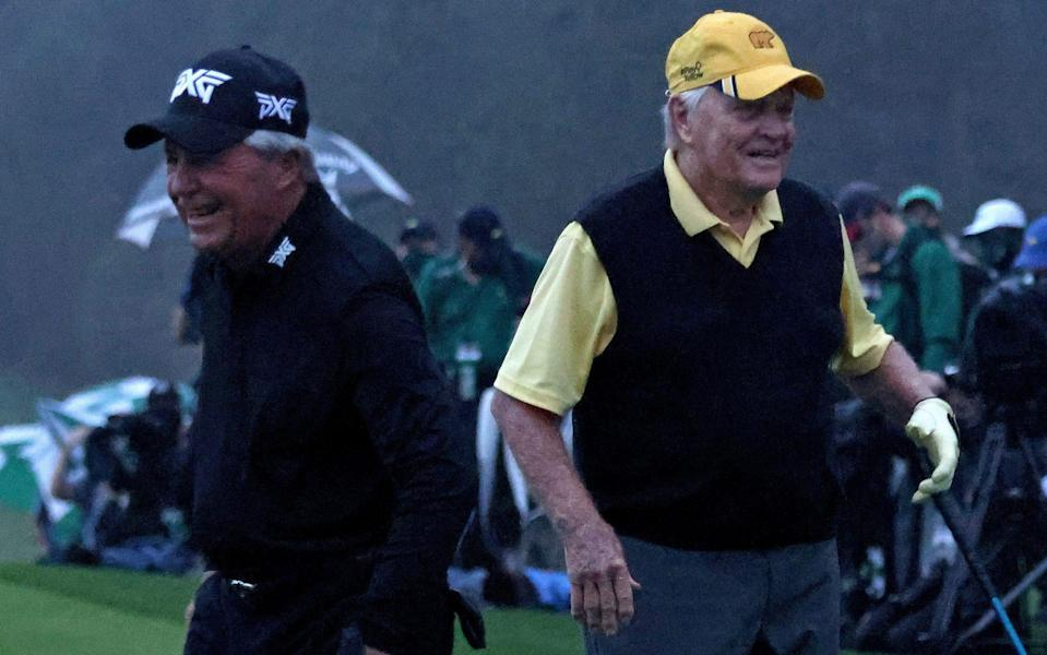 Gary Player (left) and Jack Nicklaus — Jack Nicklaus and Gary Player demand action to curb striking distance - GETTY IMAGES