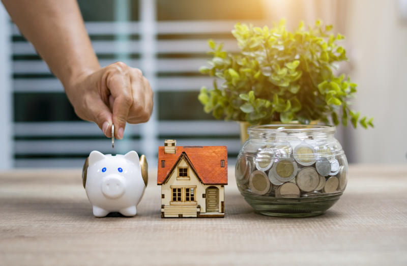 Saving money for buying a home concept. Photo: Getty