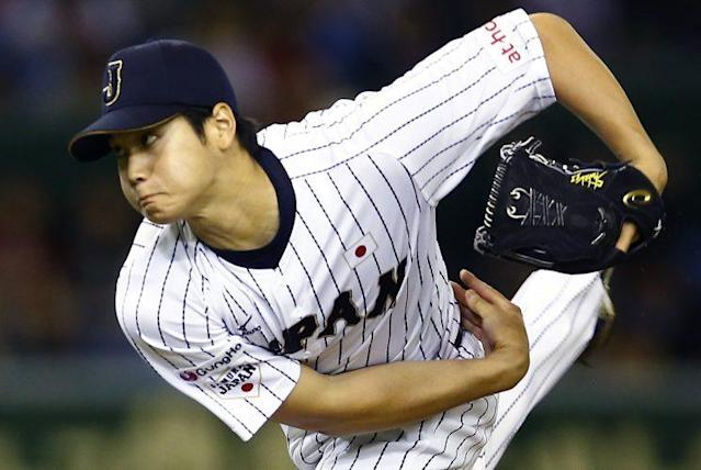 NPB superstar Shohei Otani may be the reason MLB teams are reconsidering their stance on two-way players. (AP Photo)