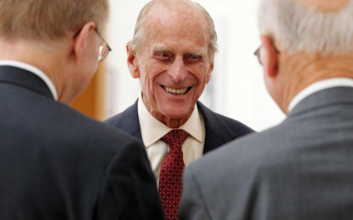 Prince Philipsmiles after presenting Royal Medals at the Royal Society of Edinburgh - REUTERS/Andrew Milligan/Pool