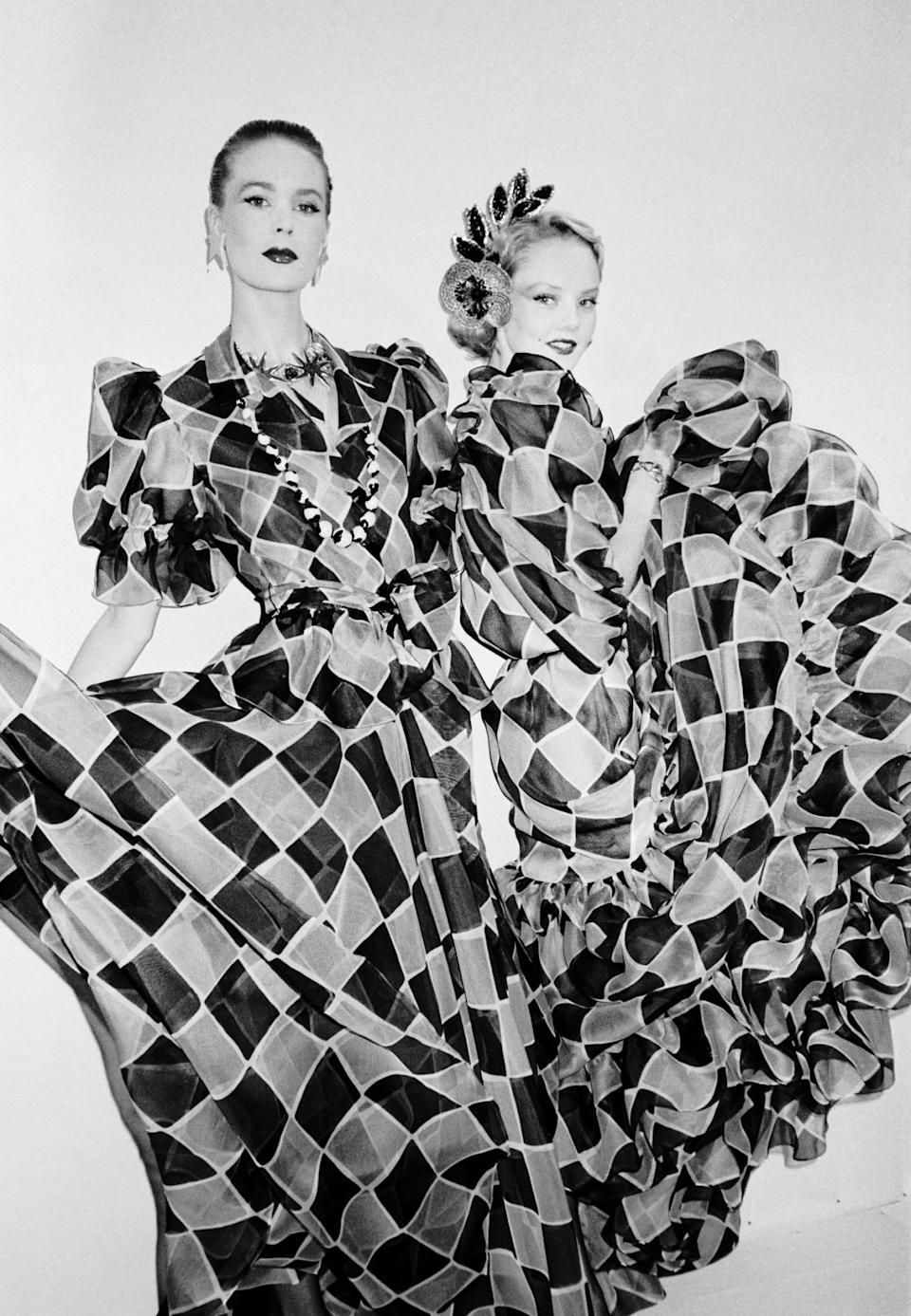 <p>Yves Saint Laurent by Roxanne Lowit</p><p>Ready-to-wear, Spring 1983</p>