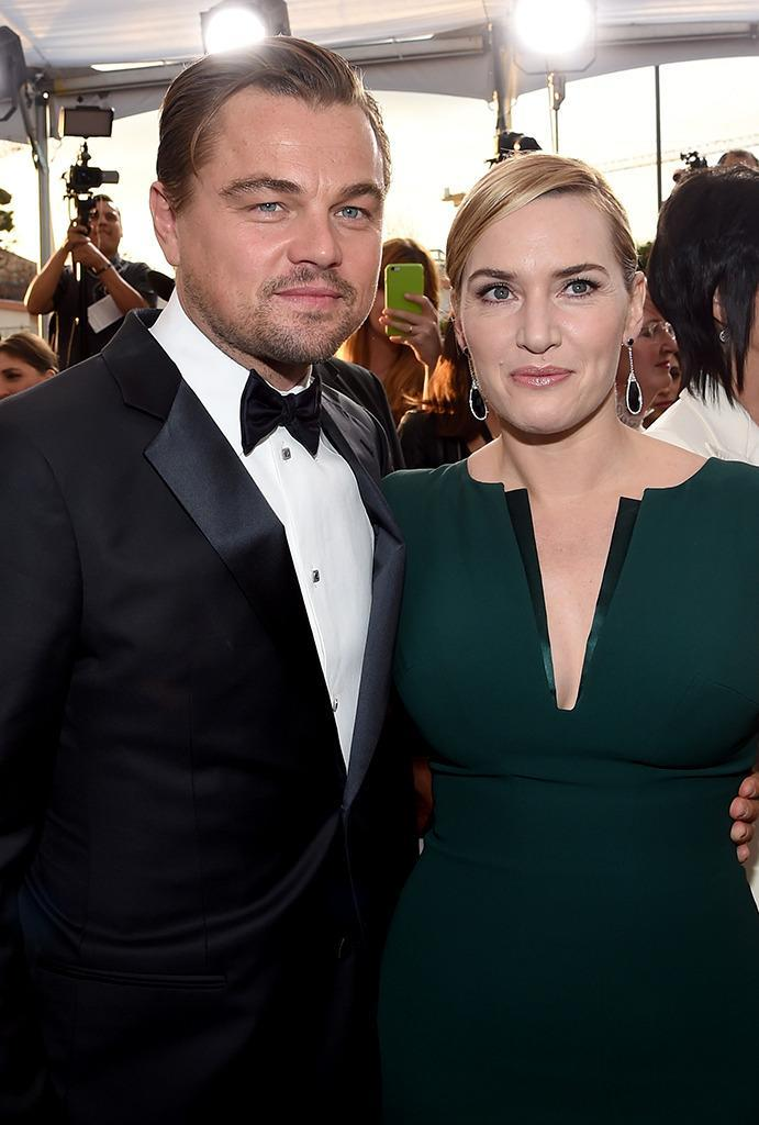 """<p>""""People are always so excited to see Leo and myself in the same space, which you know at the end of the day that is so lovely, isn't it,"""" Winslet <a href=""""https://www.yahoo.com/movies/kate-winslet-finally-admits-that-rose-totally-175941668.html"""" data-ylk=""""slk:recently told Jimmy Kimmel;outcm:mb_qualified_link;_E:mb_qualified_link;ct:story;"""" class=""""link rapid-noclick-resp yahoo-link"""">recently told Jimmy Kimmel</a>. """"It's been 20 years and people still get such a kick out of it."""" (Photo: Larry Busacca/Getty Images)</p>"""