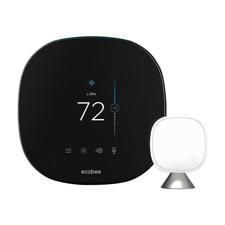 """<p><strong>ecobee</strong></p><p>amazon.com</p><p><strong>$252.42</strong></p><p><a href=""""https://www.amazon.com/dp/B07NQT85FC?tag=syn-yahoo-20&ascsubtag=%5Bartid%7C2089.g.864%5Bsrc%7Cyahoo-us"""" rel=""""nofollow noopener"""" target=""""_blank"""" data-ylk=""""slk:Shop Now"""" class=""""link rapid-noclick-resp"""">Shop Now</a></p><p>The ecobee SmartThermostat utilizes room sensors to keep tabs on the temperature in your home. You can connect multiple sensors for best results. </p><p>The device's smart features include full Amazon Alexa and Google Assistant support via a built-in speaker and microphones. The SmartThermostat also offers compatibility with Samsung SmartThings, Apple HomeKit, and the IFTTT home automation standard.</p>"""