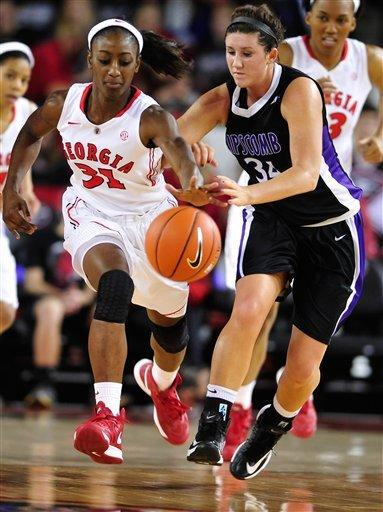James, Griffin lift Georgia women over Lipscomb
