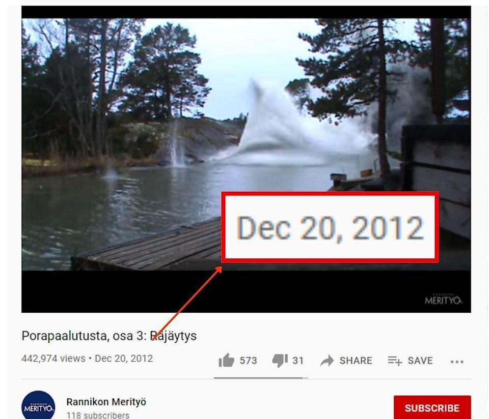"""<div class=""""paragraphs""""><p>The video was published on the company's YouTube channel in 2012.</p></div>"""