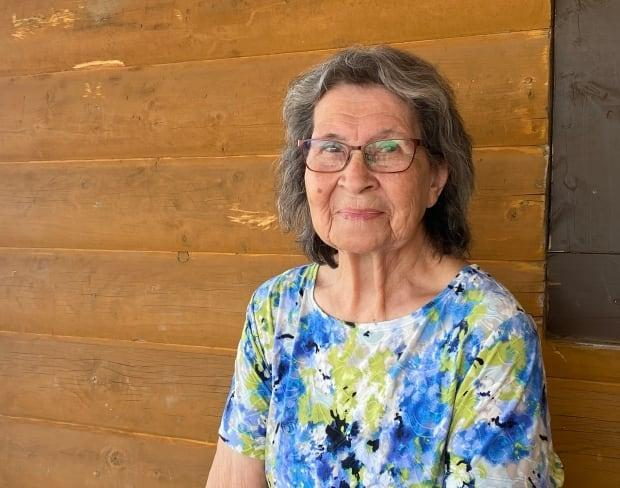 Beardy's and Okemasis' Cree Nation elder Therese Seesequasis said she forgot how to love after eight years at St. Michael's Indian Residential School in Saskatchewan. But she and her husband, Kenneth, found it again and were married 69 years. (Jason Warick/CBC - image credit)