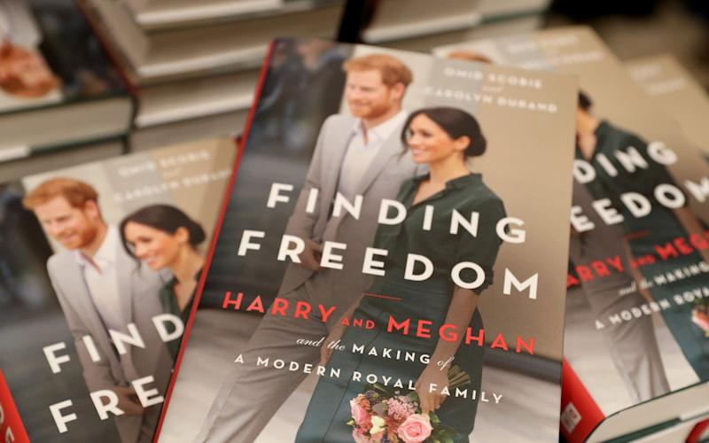 Copies of 'Finding Freedom' are stacked up in Waterstones Piccadilly on August 11, 2020 in London, England - Chris Jackson