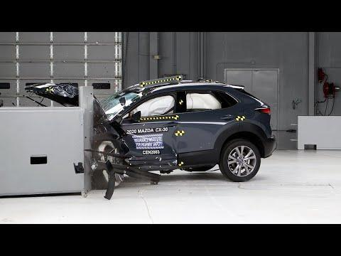 """<p>Spoiler alert: Mazda's entire SUV lineup is on this list. In fact the only Mazda that isn't a Top Safety Pick+ is the <a href=""""https://www.caranddriver.com/mazda/mx-5-miata"""" rel=""""nofollow noopener"""" target=""""_blank"""" data-ylk=""""slk:MX-5 Miata"""" class=""""link rapid-noclick-resp"""">MX-5 Miata</a>. The <a href=""""https://www.caranddriver.com/mazda/cx-30"""" rel=""""nofollow noopener"""" target=""""_blank"""" data-ylk=""""slk:CX-30"""" class=""""link rapid-noclick-resp"""">CX-30</a> is a taller, crossover version of the <a href=""""https://www.caranddriver.com/mazda/mazda-3"""" rel=""""nofollow noopener"""" target=""""_blank"""" data-ylk=""""slk:Mazda 3"""" class=""""link rapid-noclick-resp"""">Mazda 3</a> compact car, and has an optional 250-hp turbocharged four-cylinder. Not only did the CX-30 receive a five-star rating from NHTSA, it also earned a Good rating for all six of the IIHS crash tests, with Superior marks for its front crash prevention systems. The only area of concern was for CX-30 Premiums built before October 2020. Those models received a poor headlight rating because of too much glare from their low beams. Every CX-30 has lane-keeping assist with lane-departure warning, active cruise control, and they'll alert the driver when the system detects fatigued driving behavior. We've ranked the CX-30 first among 19 <a href=""""https://www.caranddriver.com/features/g15383346/best-subcompact-suv-ranked/"""" rel=""""nofollow noopener"""" target=""""_blank"""" data-ylk=""""slk:subcompact crossovers and SUVs"""" class=""""link rapid-noclick-resp"""">subcompact crossovers and SUVs</a>.</p><p><a class=""""link rapid-noclick-resp"""" href=""""https://www.caranddriver.com/mazda/cx-30"""" rel=""""nofollow noopener"""" target=""""_blank"""" data-ylk=""""slk:MORE CX-30 INFO"""">MORE CX-30 INFO</a></p><p><a href=""""https://www.youtube.com/watch?v=AnQDp_OzW-8"""" rel=""""nofollow noopener"""" target=""""_blank"""" data-ylk=""""slk:See the original post on Youtube"""" class=""""link rapid-noclick-resp"""">See the original post on Youtube</a></p>"""