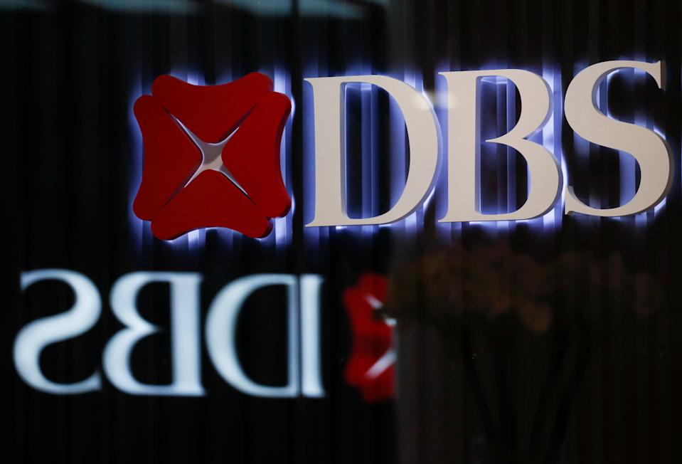 DBS signages are seen in Singapore, October 8 2019. REUTERS/Feline Lim