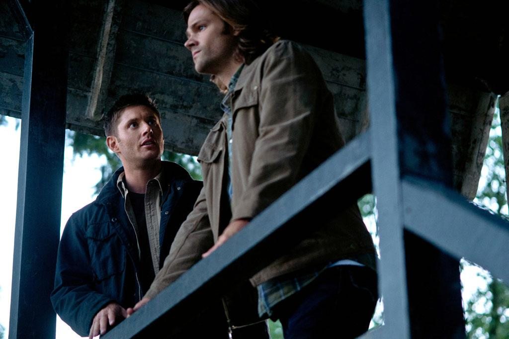 """Jensen Ackles as Dean and Jared Padalecki as Sam in the """"Supernatural"""" Season 8 premiere, """"We Need To Talk About Kevin."""""""