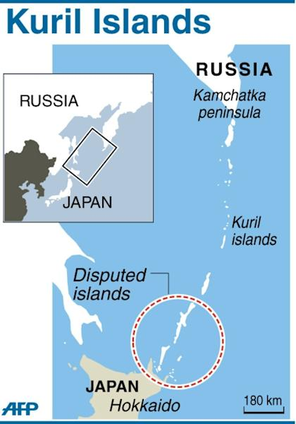 Map locating the disputed Kuril islands off eastern Russia's Kamchatka peninsula (AFP Photo/)