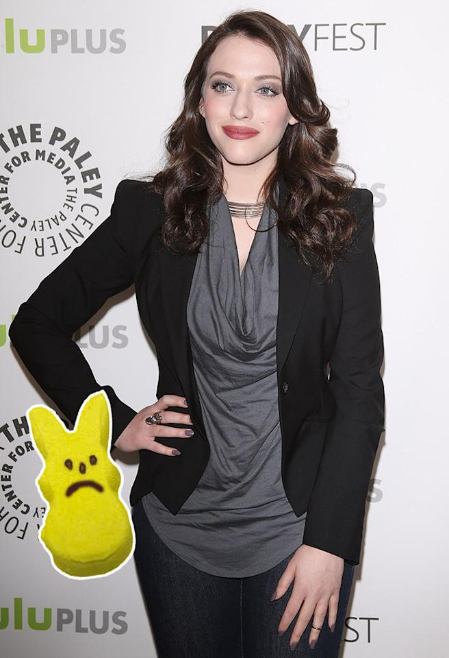 "BEVERLY HILLS, CA - MARCH 14:  Kat Dennings arrives at the 30th Annual PaleyFest: The William S. Paley Television Festival - ""2 Broke Girls"" held at Saban Theatre on March 14, 2013 in Beverly Hills, California.  (Photo by Michael Tran/FilmMagic)"