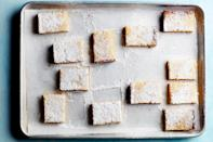 """Everyone loves lemon bars, and now even your gluten-free friends can enjoy them too. <a href=""""https://www.epicurious.com/recipes/food/views/gluten-free-lemon-bars?mbid=synd_yahoo_rss"""" rel=""""nofollow noopener"""" target=""""_blank"""" data-ylk=""""slk:See recipe."""" class=""""link rapid-noclick-resp"""">See recipe.</a>"""