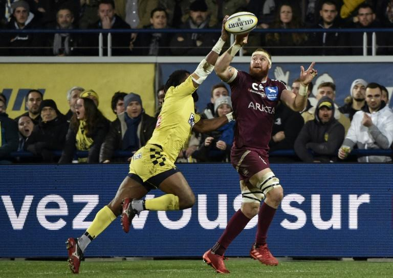 Australia's Scott Higginbotham has scored four tries in 19 matches across all competitions for Bordeaux-Begles this season (AFP Photo/THIERRY ZOCCOLAN)