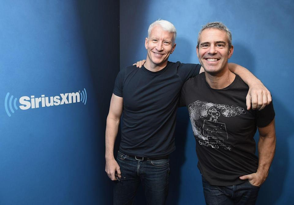 """<p>On their first impressions of each other, via the <em><a href=""""https://www.nytimes.com/2017/12/27/arts/television/anderson-cooper-andy-cohen.html"""" rel=""""nofollow noopener"""" target=""""_blank"""" data-ylk=""""slk:New York Times"""" class=""""link rapid-noclick-resp"""">New York Times</a></em>:</p><p>""""I remember going up some waterway in a slow-moving boat, talking to you, sort of entranced. Andy, even before he was on TV, was the life of the party."""" — Anderson Cooper</p><p>""""I thought he was a little standoffish. But I liked making him laugh. That was my goal: Maybe I can crack this guy up, and that's where we can come together."""" — Andy Cohen</p>"""