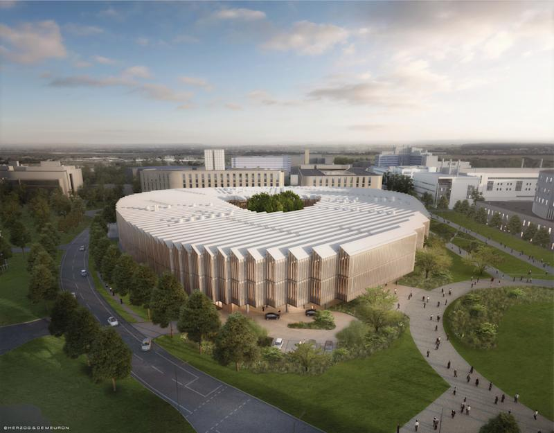 CGI of AstraZeneca's new Cambridge HQ, currently under construction. Photo: AstraZeneca