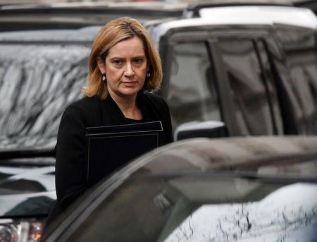 Britain's Home Secretary Amber Rudd arrives in Downing Street, London, January 29, 2018. REUTERS/Toby Melville