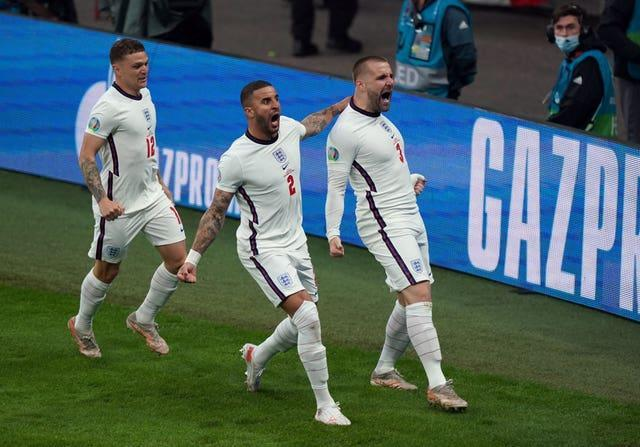 Luke Shaw opened the scoring after just two minutes with his first England goal