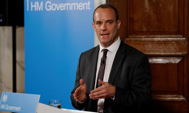 Dominic Raab outlines the government's plans for a no-deal Brexit.