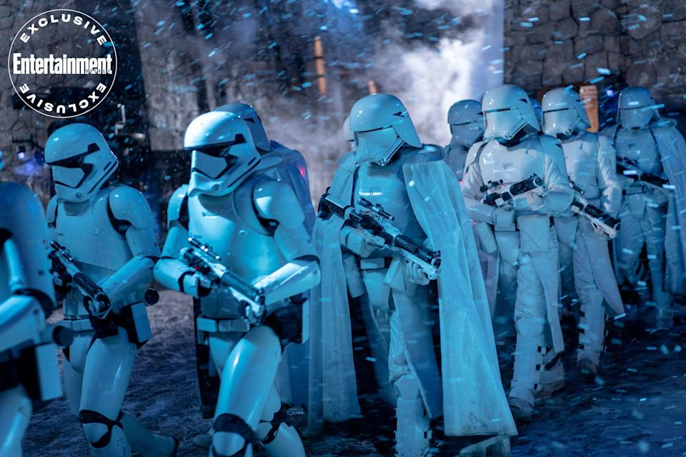 A storm of stormtroopers (and snowtroopers) on the march.