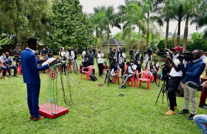 FILE PHOTO: Uganda's opposition presidential candidate rejects early preliminary results in Kampala