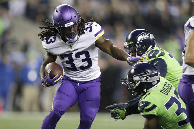 A rested Dalvin Cook could give the Saints problems on Sunday. (AP Photo/John Froschauer)