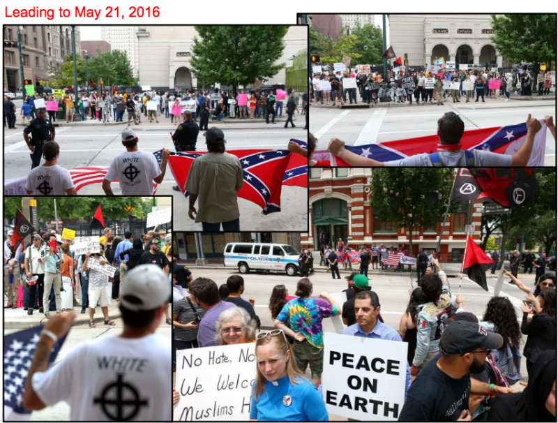 Pro- and anti-Muslim rallies found themselves squaring off in Houston after events were orchestrated by Russian trolls. (Office of Sen. Richard Burr)