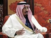 Saudi Arabia's Crown Prince Salman bin Abdul Aziz al-Saud meets with Chinese Premier Li Keqiang at Ziguangge Pavilion in the Zhongnanhai leaders' compound in Beijing in this file photo from March 14, 2014. REUTERS/Lintao Zhang/Pool/Files