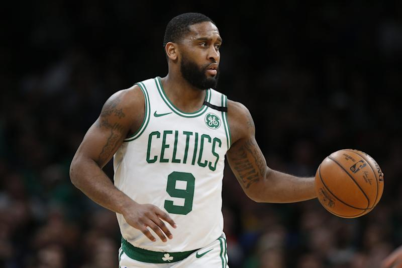 Boston Celtics' Brad Wanamaker during the fourth quarter of an NBA basketball game against the Utah Jazz on March 6, 2020, in Boston.