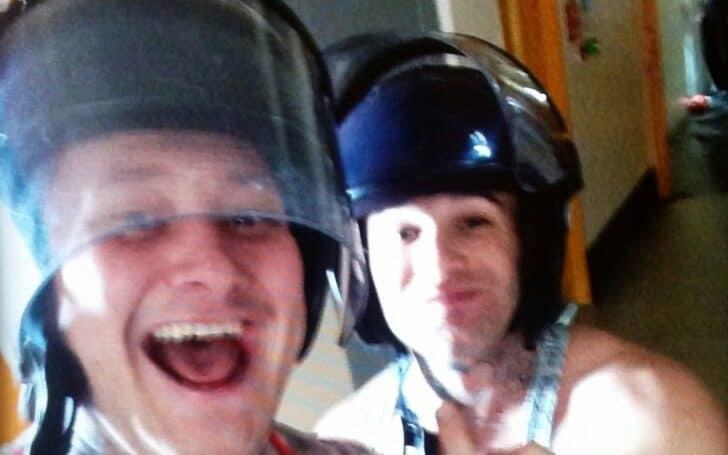 Some inmates, including these two apparently inside HMP Birmingham, have used the devices to film themselves and post videos on websites such as Facebook - © Copyright unknown / SWNS.com