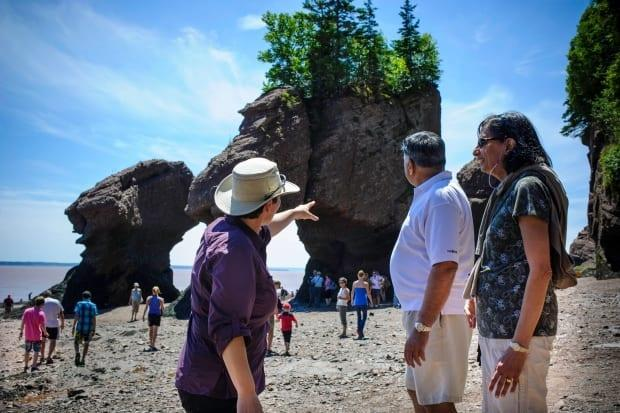 Hopewell Rocks, a provincial park, is one of the province's top attractions and popular with tourists.