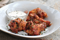 """<p>""""I put this wing recipe together for a great football afternoon, and let me tell you, these are so heavenly.""""<i> -Andi of Longmeadow Farm</i> <b><a href=""""http://www.food.com/recipe/baked-hot-wings-226289?oc=PTNR-YahooFood-favorite-chicken-wing-recipes"""" rel=""""nofollow noopener"""" target=""""_blank"""" data-ylk=""""slk:Get the Recipe>>"""" class=""""link rapid-noclick-resp"""">Get the Recipe>></a></b><br></p><p><i>Recipe by <a href=""""http://www.food.com/user/139541?oc=PTNR-YahooFood-favorite-chicken-wing-recipes"""" rel=""""nofollow noopener"""" target=""""_blank"""" data-ylk=""""slk:Julie Termmel"""" class=""""link rapid-noclick-resp"""">Julie Termmel</a>; Photo by <a href=""""http://www.food.com/user/428885?oc=PTNR-YahooFood-favorite-chicken-wing-recipes"""" rel=""""nofollow noopener"""" target=""""_blank"""" data-ylk=""""slk:Andi of Longmeadow Farm"""" class=""""link rapid-noclick-resp"""">Andi of Longmeadow Farm</a> </i></p>"""