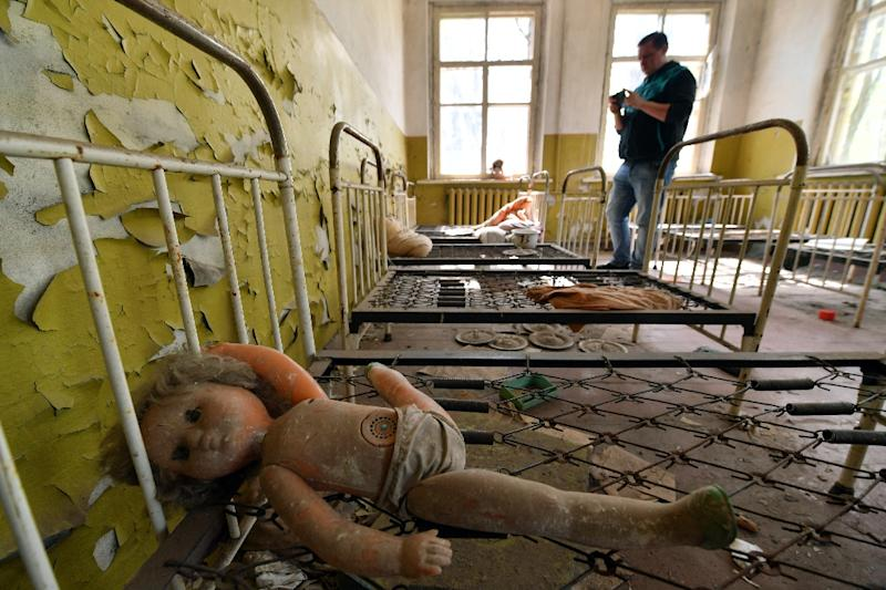 The number of visitors to Chernobyl in 2017 rose 35 percent on the previous year, reaching almost 50,000 people mostly from abroad (AFP Photo/Sergei SUPINSKY)