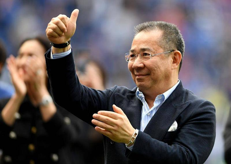 The Leicester City owner was always happy to acknowledge the team's fans (Getty)