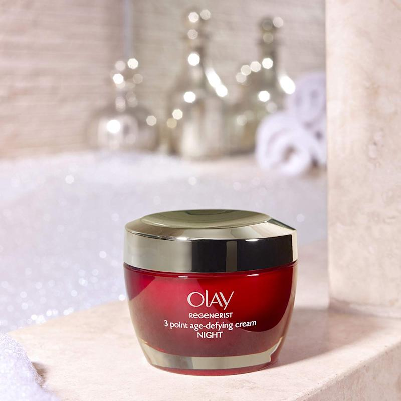 Olay Regenerist 3Point Firming Anti-Ageing Night Cream Moisturiser with Hyaluronic Acid [Photo: Amazon]