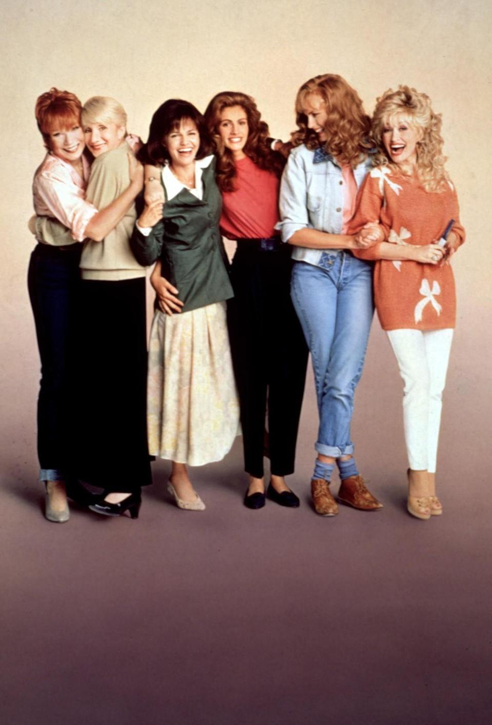 <p>The title refers to the idea that the women in the film can be as delicate as magnolia flowers and as tough as steel. In the movie, a group of different women — played by Julia Roberts, Dolly Parton, and Shirley MacLaine — in a small town in Louisiana learn to cope with the death of one of their own, supporting one another in their individual ways of grieving. <i>(Source: Everett Collection)</i></p>
