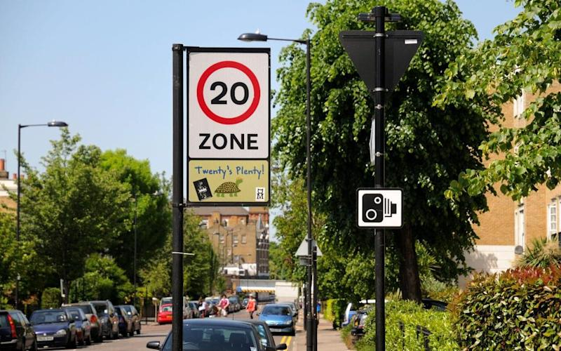 20mph sign - Credit: Andy Drysdale/REX