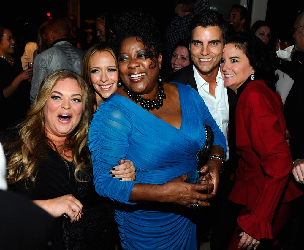 "Rebecca Field, Jennifer Love Hewitt, Loretta Devine, Colin Egglesfield, and Executive Producer Danielle Thomas attend the launch party for Lifetime's ""<a href=""http://tv.yahoo.com/client-list/show/47678"">The Client List</a>"" at Sunset Tower on April 4, 2012 in West Hollywood, California."