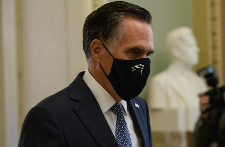 """Senator Mitt Romney (pictured September 2020) dismissed as """"nonsense"""" the rationale of his colleagues who plan to vote against certifying President-elect Joe Biden's win"""