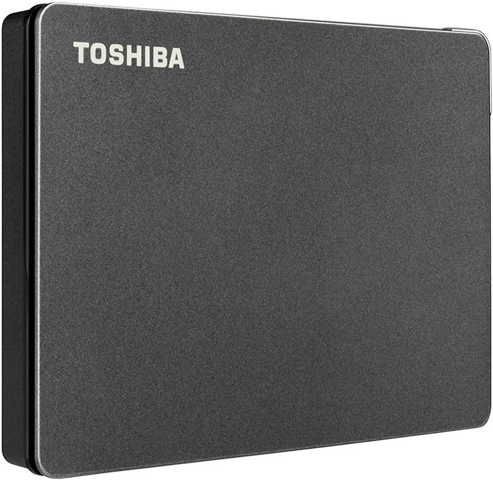 <p>Organize your digital life with the <span>Toshiba Canvio 1TB Portable External Hard Drive USB 3.0</span> ($50). Back up all your digital files in this and never lose you digital memories again.</p>