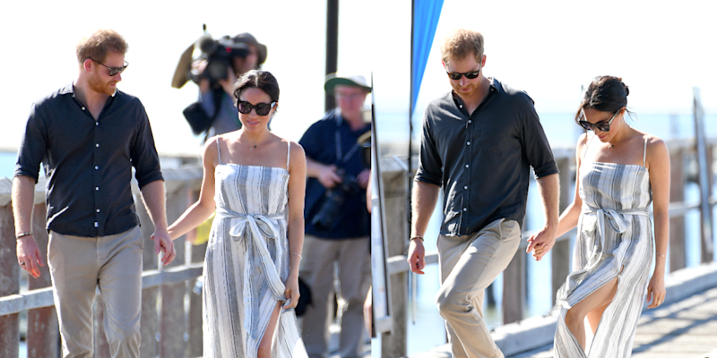 ec6f02c2752d Meghan Markle Just Wore a Dress with a Thigh-High Slit and Looked ...