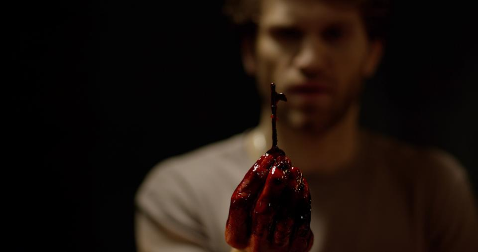 """Keegan Allen stars as a social-media superstar who travels to Moscow to stage an escape-room stunt for his millions of followers and gets involved in a dangerous game in the horror film """"No Escape."""""""