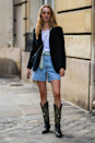 <p>Denim shorts might not be an option in your office but, if they are, team with a velvet blazer and cowboy boots for a smarter spin on the summer classic.</p>