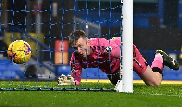Jordan Pickford cannot stop the ball going over the line