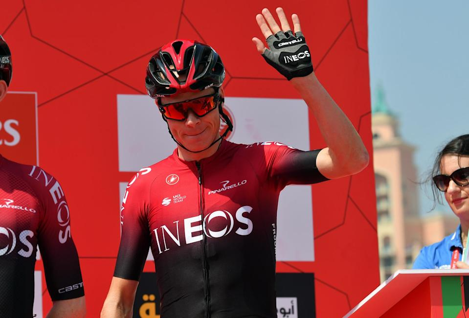 Chris Froome back in action at the UAE Tour