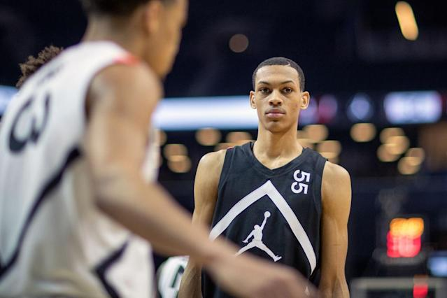 Five-star basketball recruit Darius Bazley participated in the Jordan Brand Classic this past April. (Getty Images)