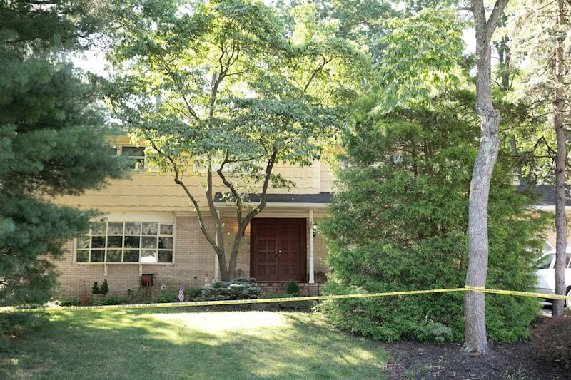 Crime scene tape surrounds the home of U.S. District Judge Esther Salas on July 20 in North Brunswick, N.J.